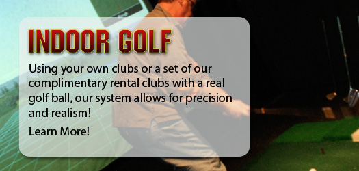 Using your own clubs or a set of our complimentary rental clubs with a real golf ball, our system allows for precision and realism!