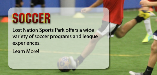 Lost Nation Sports Park offers a wide variety of soccer programs and league experiences.